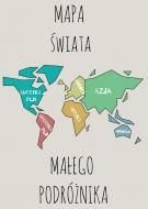 Plakat, Mapa świata, 50x70 cm