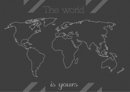 Plakat, Mapa, 60x40 cm