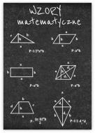 Plakat, Wzory matematyczne, 50x70 cm