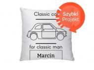 Poduszka, bawełna, Classic man, 38x38 cm