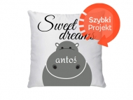 Poduszka, bawełna, Sweet Dreams, 38x38 cm