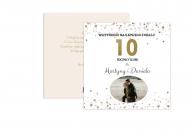 Fotokartki Z okazji 10. rocznicy ślubu, 14x14 cm