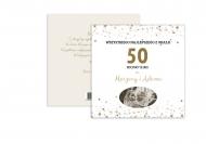Fotokartki Z okazji 50. rocznicy ślubu, 14x14 cm