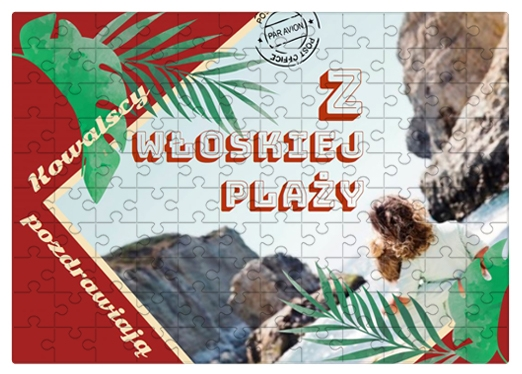 Puzzle, Włoska plaża, 1000 elementów