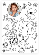 Plakat, Kolorowanka - Zwierzaki , 70x100 cm