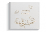 Album z eko skóry Urodziny dziecka, 24x24 cm