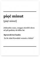 Plakat, Słownik - Pięć minut, 30x40 cm
