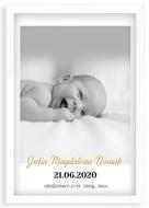 Plakat w ramce, Plakat dziecięcy - biała ramka, 20x30 cm