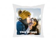 Poduszka dekoracyjna, poliester, This is Love, 38x38 cm
