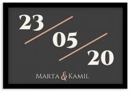 Plakat w ramce, Data - czarna ramka, 30x20 cm