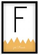 Plakat w ramce, Imię - czarna ramka, 20x30 cm