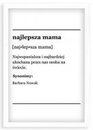 Plakat w ramce, Najlepsza mama - biała ramka, 20x30 cm