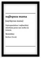 Plakat w ramce, Najlepsza mama - czarna ramka, 20x30 cm
