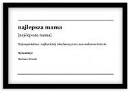 Plakat w ramce, Najlepsza mama - czarna ramka, 30x20 cm