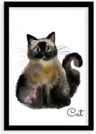 Plakat w ramce, Cat- czarna ramka, 20x30 cm