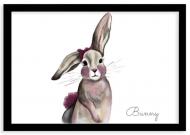 Plakat w ramce, Bunny- czara ramka, 30x20 cm