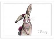 Plakat w ramce, Bunny- biała ramka, 30x20 cm