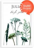 Plakat w ramce, Roślinny- biała ramka, 20x30 cm