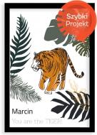 Plakat w ramce, Tygrys- czarna ramka, 20x30 cm