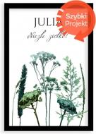 Plakat w ramce, Roślinny- czarna ramka, 20x30 cm