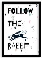 Plakat w ramce, Rabbit- czarna ramka, 20x30 cm