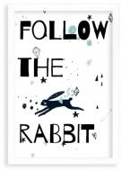 Plakat w ramce, Rabbit- biała ramka, 20x30 cm