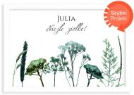 Plakat w ramce, Roślinny- biała ramka, 30x20 cm