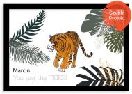 Plakat w ramce, Tygyrs- czarna ramka, 30x20 cm