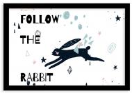 Plakat w ramce, Rabbit- czarna ramka, 30x20 cm
