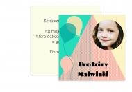 Zaproszenia Przyjęcie dziecka, 15x15 cm