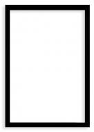 Plakat w ramce, Pusty szablon - czarna ramka, 20x30 cm