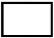 Plakat w ramce, Pusty szablon - czarna ramka, 30x20 cm