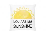 Poduszka, bawełna, Jesteś moim Słońcem, 25x25 cm