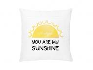 Poduszka, aksamit, Jesteś moim Słońcem, 38x38 cm