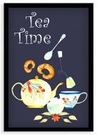 Plakat w ramce, Tea time - czarna ramka, 20x30 cm