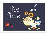 Plakat w ramce, Tea time - biała ramka, 30x20 cm