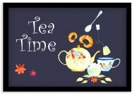 Plakat w ramce, Tea time - czarna ramka, 30x20 cm