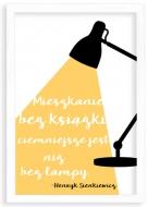 Plakat w ramce, Cytat Sienkiewicz- biała ramka, 20x30 cm
