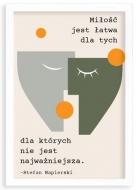 Plakat w ramce, Cytat Napierski- biała ramka, 20x30 cm