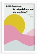 Plakat w ramce, Prus- biała ramka, 20x30 cm