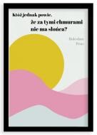 Plakat w ramce, Prus- czarna ramka, 20x30 cm