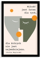 Plakat w ramce, Cytat Napierski- czarna ramka, 20x30 cm