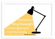 Plakat w ramce, Cytat Sienkiewicz- biała ramka, 30x20 cm