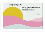 Plakat w ramce, Prus- biała ramka, 30x20 cm