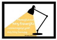 Plakat w ramce, Cytat Sienkiewicz- czarna ramka, 30x20 cm
