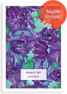Plakat w ramce, Purpurowe kwiaty - biała ramka, 20x30 cm