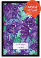 Plakat w ramce, Purpurowe kwiaty - czarna ramka, 20x30 cm
