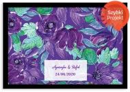 Plakat w ramce, Purpurowe kwiaty - czarna ramka, 30x20 cm