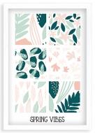 Plakat w ramce, Spring vibes - biała ramka, 20x30 cm