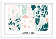 Plakat w ramce, Spring vibes - biała ramka, 30x20 cm